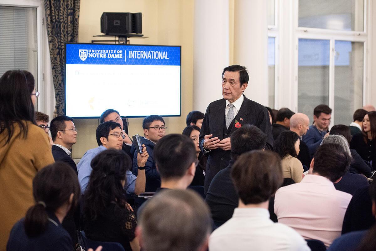 Notre Dame University President Ma Ying Jeou By John Cairns 17